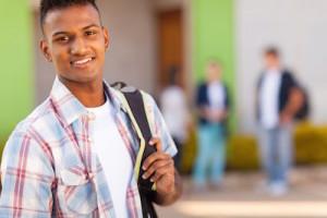 Teenager volunteering