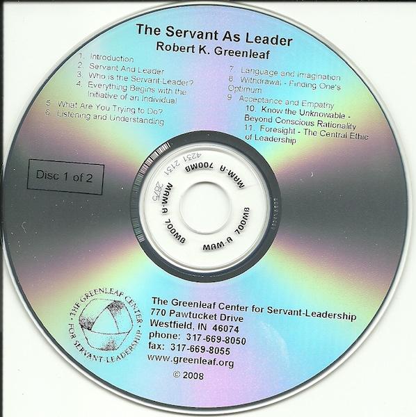 The Servant as Leader on CD