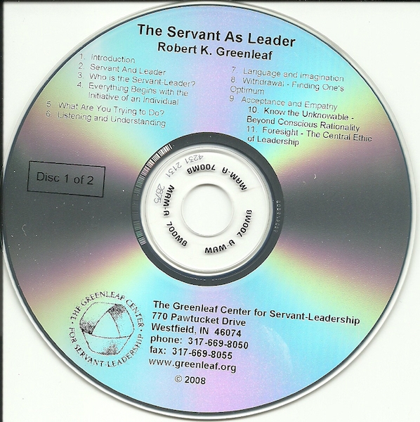 The Servant as Leader on CD